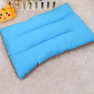 Hund Betten Haustiere Matten & Polster Solide warm halten Weich Elasthan Orange Rose Grün Blau