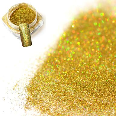 0.2g / flacon de moda superba laser aur strălucitor de decorare unghii art strălucire holografică pulbere fină diy farmecul strălucitor