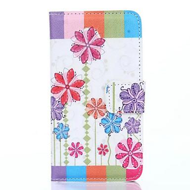 Voor Samsung Galaxy Note 4 Case Cover Kaarthouder Portemonnee Met Stand Flip Pattern Full Body Case Bloem Hard Pu Leather