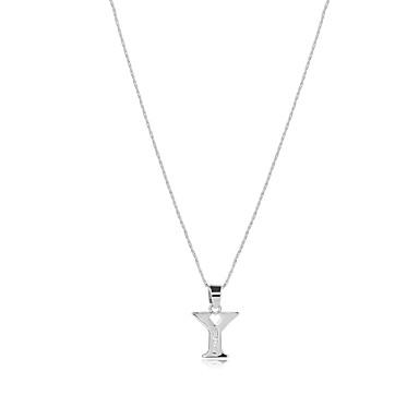 للرجال للمرأة Alphabet Shape شكل ستايل الشعار بوهيميان الولايات المتحدة الأمريكية بيان المجوهرات مصنوع يدوي توازن الطاقة قلائد الحلي مكعب