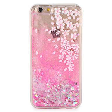 Hülle Für Apple iPhone 7 Plus iPhone 7 Mit Flüssigkeit befüllt Muster Rückseite Blume Glänzender Schein Hart PC für iPhone 7 Plus iPhone