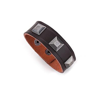 Heren Lederen armbanden Sieraden Natuur Modieus Leder Legering Sieraden Voor Speciale gelegenheden Sport 1 stuks