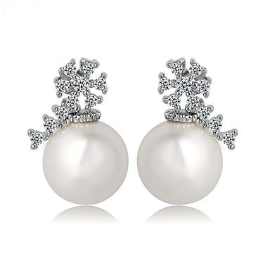 Dames Oorknopjes Sieraden Uniek ontwerp Modieus Euramerican Kostuum juwelen Parel Zirkonia Legering Sieraden Sieraden Voor Bruiloft