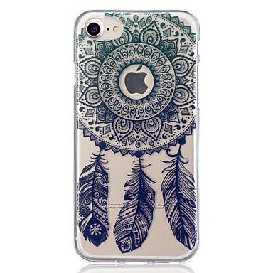 voordelige iPhone 5 hoesjes-hoesje Voor Apple iPhone 8 Plus / iPhone 8 / iPhone 7 Plus Doorzichtig / Patroon Achterkant Dromenvanger / Bloem Zacht TPU