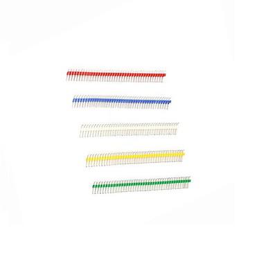 aranyozott 40p 2,54 hím és nőstény színe egysoros pin header for Arduino uno r3 (20db)