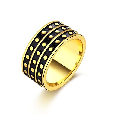 للمرأة خاتم مكعب زركونيا ذهبي أسود زركون نحاس تصفيح بطلاء الفضة مطلية بالذهب سبيكة دائري مخصص هندسي تصميم فريد كلاسيكي قديم حجر الراين