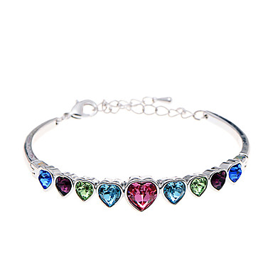 Dames Armbanden met ketting en sluiting Sieraden Vintage Natuur Modieus Met de Hand Gemaakt Strass Legering Hartvorm Sieraden Voor