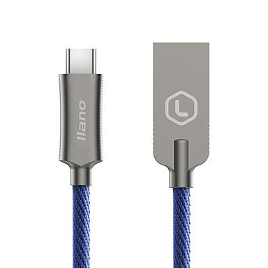 Type-C Rapidă încărcare Împletit Cablu Pentru Samsung Huawei Sony Nokia HTC Motorola LG Lenovo Xiaomi cm Aluminiu Nailon