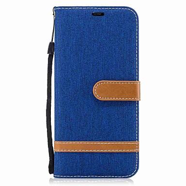 Maska Pentru Samsung Galaxy S8 Plus S8 Portofel Titluar Card Cu Stand Întoarce Corp Plin Culoare solidă Greu Textil pentru S8 S8 Plus S7