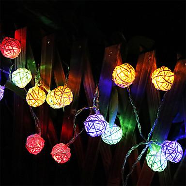 Fâșii de Iluminat 20 LED-uri Alb Cald Multicolor Baterie
