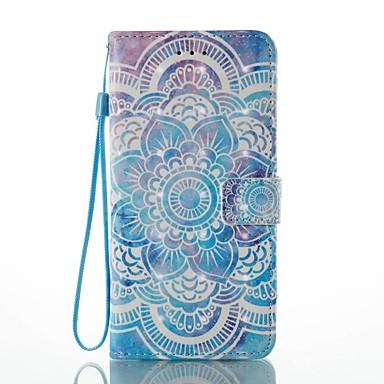 Hülle Für Apple iPhone 7 Plus iPhone 7 Kreditkartenfächer Geldbeutel mit Halterung Flipbare Hülle Muster Ganzkörper-Gehäuse Mandala Hart