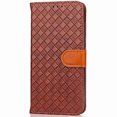 hoesje Voor Samsung Galaxy S8 Plus S8 Kaarthouder Portemonnee met standaard Flip Magnetisch Volledige behuizing Effen Kleur Geometrisch