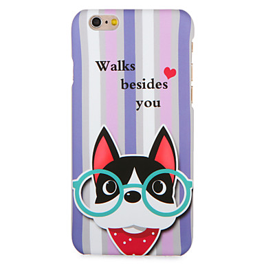 Voor apple iphone 7 7plus case cover patroon achterkant hoesje honden woord / frase hart harde pc 6s plus 6 plus 6s 6 5s 5