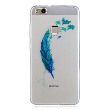 Pentru huawei p10 lite p10 caz acoperă pene model pictat pătrundere înaltă tpu material imd proces caz moale caz telefon