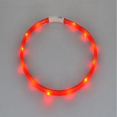 Chat Chien Colliers Lampe LED Rechargeable Clignotant Couleur Pleine Silicone Jaune Rouge Vert Bleu Rose