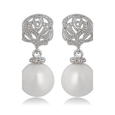 Pentru femei Altele Perle / Zirconiu - Design Unic / Euramerican / Modă Argintiu cercei Pentru Nuntă / Zi de Naștere / Petrecere / Seară