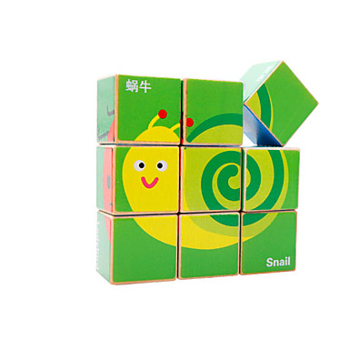 Bouwblokken Houten puzzels Voor cadeau Bouwblokken Vierkant 3-6 jaar oud Speeltjes