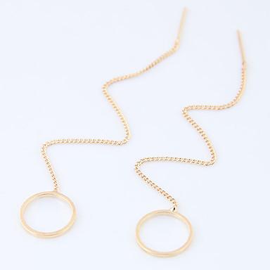 للمرأة أقراط قطرة موضة euramerican في سبيكة Circle Shape Geometric Shape مجوهرات إلى يوميا فضفاض 8قطع