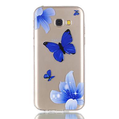 hoesje Voor Samsung Galaxy A5(2017) A3(2017) Transparant Patroon Achterkantje Vlinder Zacht TPU voor A3 (2017) A5 (2017)