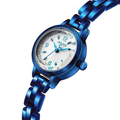 للمرأة ساعات فاشن ياباني كوارتز مقاوم للماء أشابة فرقة أزرق فضة بني ذهبي ذهبي روزي