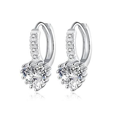 للمرأة أقراط طارة الماس الاصطناعية أساسي تصفيح بطلاء الفضة أخرى مجوهرات هدايا عيد الميلاد زفاف حزب مناسبة خاصة الذكرى السنوية عيد ميلاد