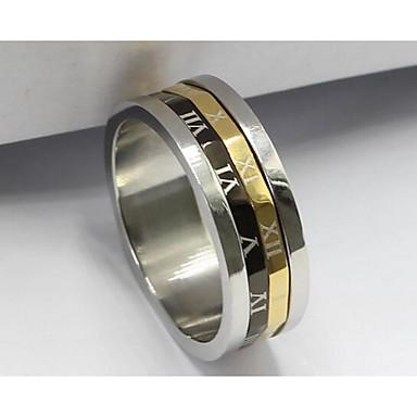 Dames Ring Sieraden Basisontwerp Roestvrijstaal/ijzer Sieraden Voor Verjaardag Dagelijks gebruik Dagelijks