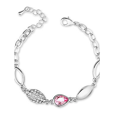 Dames Armbanden met ketting en sluiting Sieraden Vintage Natuur Modieus Met de Hand Gemaakt Kristal Legering Ovalen vorm Sieraden Voor