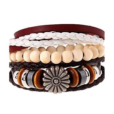 للمرأة للرجال أساور من الجلد موضة جلد Geometric Shape مجوهرات إلى زفاف حزب الرياضة 1PC