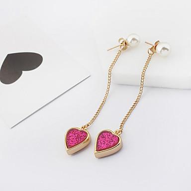 Pentru femei Cercei Picătură Imitație de Perle La modă Euramerican Aliaj Heart Shape Bijuterii Pentru Petrecere Zilnic 1 Pair