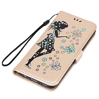 Hülle Für Samsung Galaxy S8 Plus S8 Kreditkartenfächer mit Halterung Flipbare Hülle Geprägt Handyhülle für das ganze Handy Sexy Lady