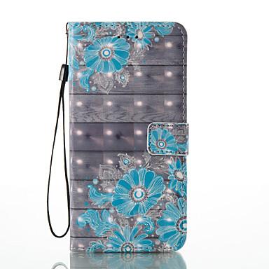 hoesje Voor Apple iPhone 7 Plus iPhone 7 Kaarthouder Portemonnee met standaard Flip Patroon Volledig hoesje Bloem Hard PU-nahka voor