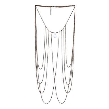 Dames Lichaamssieraden Body Chain / Belly Chain Turks Met de Hand Gemaakt Magneettherapie Modieus Punk Legering Geometrische vorm Sieraden