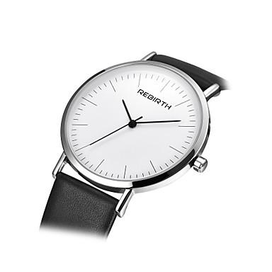 Damen Armbanduhr Modeuhr Chinesisch Quartz PU Band Schwarz