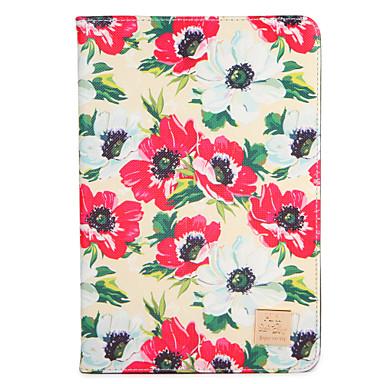 Hülle Für Apple iPad 4/3/2 iPad Air 2 iPad Air mit Halterung Flipbare Hülle Muster Ganzkörper-Gehäuse Blume Hart PU-Leder für iPad 4/3/2