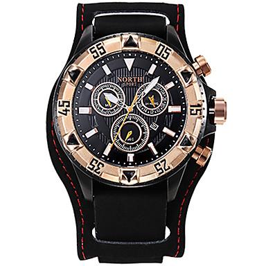 Herrn Quartz Armbanduhr Militäruhr Sportuhr Japanisch Kalender Chronograph Wasserdicht Großes Ziffernblatt Stopuhr Echtes Leder Band