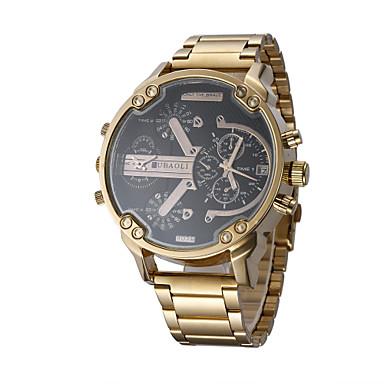 Bărbați Ceas La Modă Ceas de Mână Ceas Casual Ceas Sport Chineză Quartz Calendar Zone Duale de Timp  Mare Dial Oțel inoxidabil Bandă