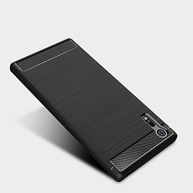 غطاء من أجل Sony ضد الصدمات غطاء خلفي لون الصلبة ناعم TPU إلى Sony Xperia XZ Premium Sony Xperia XZ Sony Xperia XA1 Ultra Sony Xperia XA1