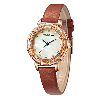 Dames Modieus horloge Chinees Kwarts PU Band Zwart Wit Bruin Grijs Roze