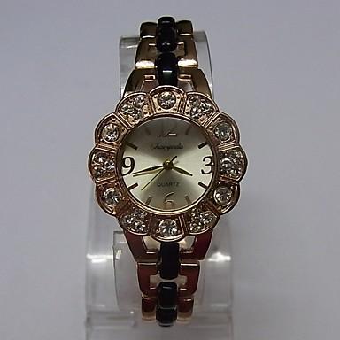 Dames Modieus horloge Armbandhorloge Kwarts Legering Band Glitter Gestipt Elegant Zwart Goud Rose