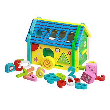 نماذج العرض التعليمية أحجار البناء اكسسوارات بيت اللعبة ألعاب تربوية ألعاب لهو الخشب الطبيعي للأطفال للجنسين قطع