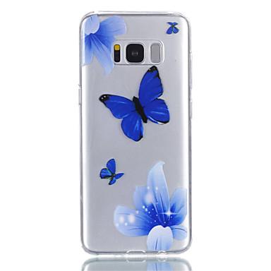 hoesje Voor Samsung Galaxy S8 Plus S8 Transparant Patroon Achterkantje Vlinder Zacht TPU voor S8 S8 Plus S7 edge S7 S6 S5