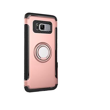 Hülle Für Samsung Galaxy S8 Plus S8 Stoßresistent mit Halterung Ring - Haltevorrichtung Rückseite Rüstung Hart PC für S8 Plus S8 S7 edge