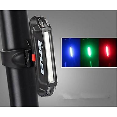Lumini de Bicicletă Iluminat Bicicletă Spate LED LED Ciclism Exterior Rezistent la Apă Schimbare - Culoare Lumină LED Baterie de litiu USB