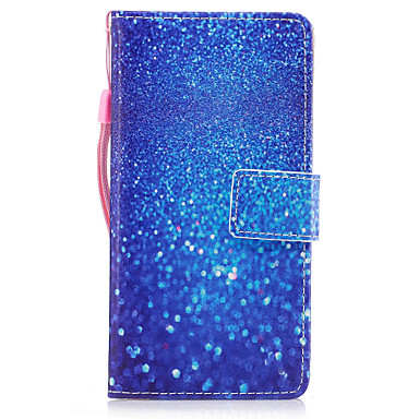 Voor huawei p8 lite (2017) p10 hoesje marmer blauw zandpatroon geverfd pu huid materiaal kaart stent portemonnee telefoon hoesje p10 plus