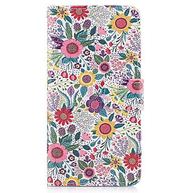 Maska Pentru Samsung Galaxy Titluar Card Portofel Cu Stand Întoarce Carcasă Telefon Floare Greu PU piele pentru On7(2016) On5(2016) Grand