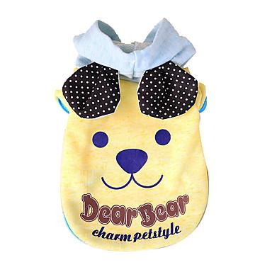Kapuzenshirts Hundekleidung Niedlich Lässig/Alltäglich Modisch Cartoon Design Gelb Blau Kostüm Für Haustiere