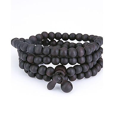 Heren Dames Strand Armbanden Wikkelarmbanden Sieraden Natuur Modieus Kostuum juwelen Hout Sieraden Voor Speciale gelegenheden