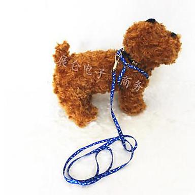 Hond Lijnen Handsfree lijn anti Bark Hardlopen Geruit Nylon Rood Blauw