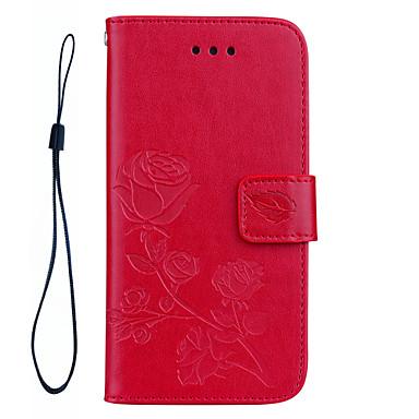 Für iphone 7 plus 7 Rosen 3D geprägtes Muster Handseil Stil PU Leder Material Telefon Fall für 6s plus 6 plus 6s 6 se 5s 5