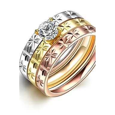 Pentru femei Verighete Inel Inel de logodna Modă stil minimalist de Mireasă Oțel titan Rotund Bijuterii Cadouri de Crăciun Nuntă
